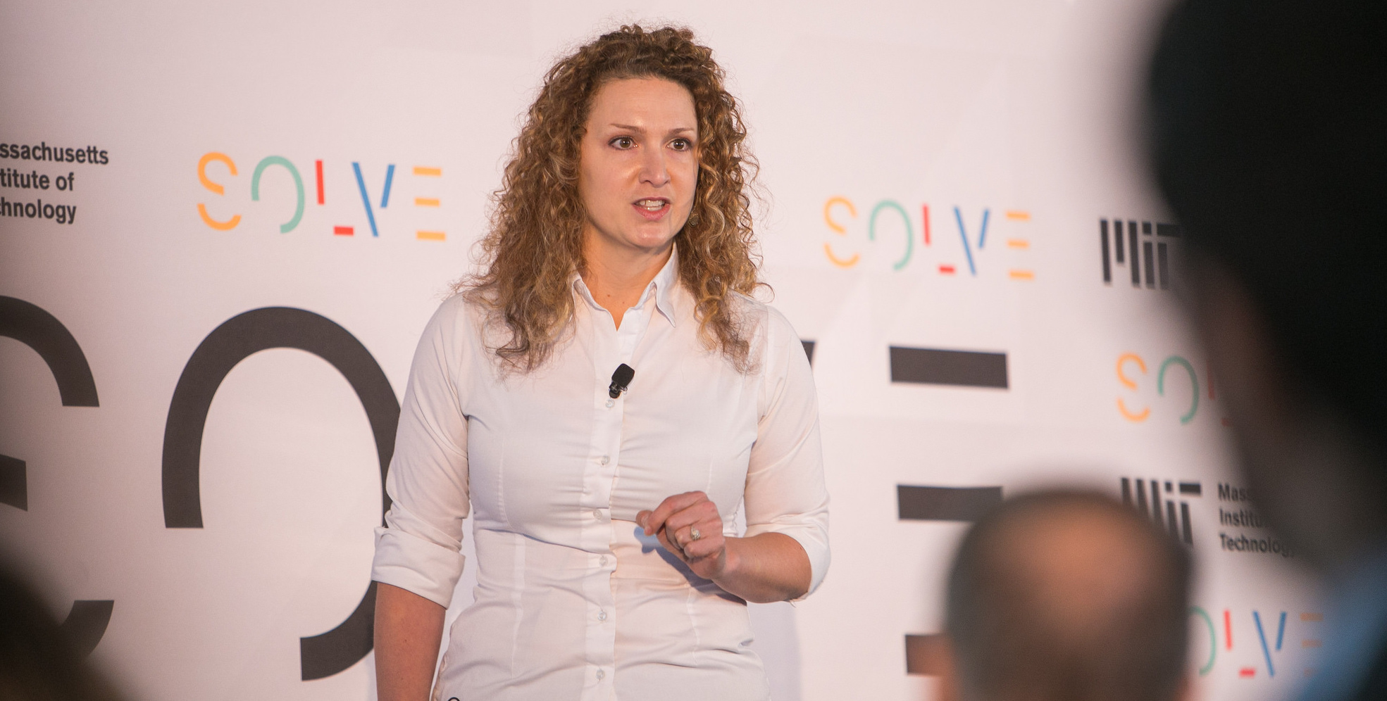 Jessica Hubley pitches AnnieCannons at Solve Challenge Finals 2017.
