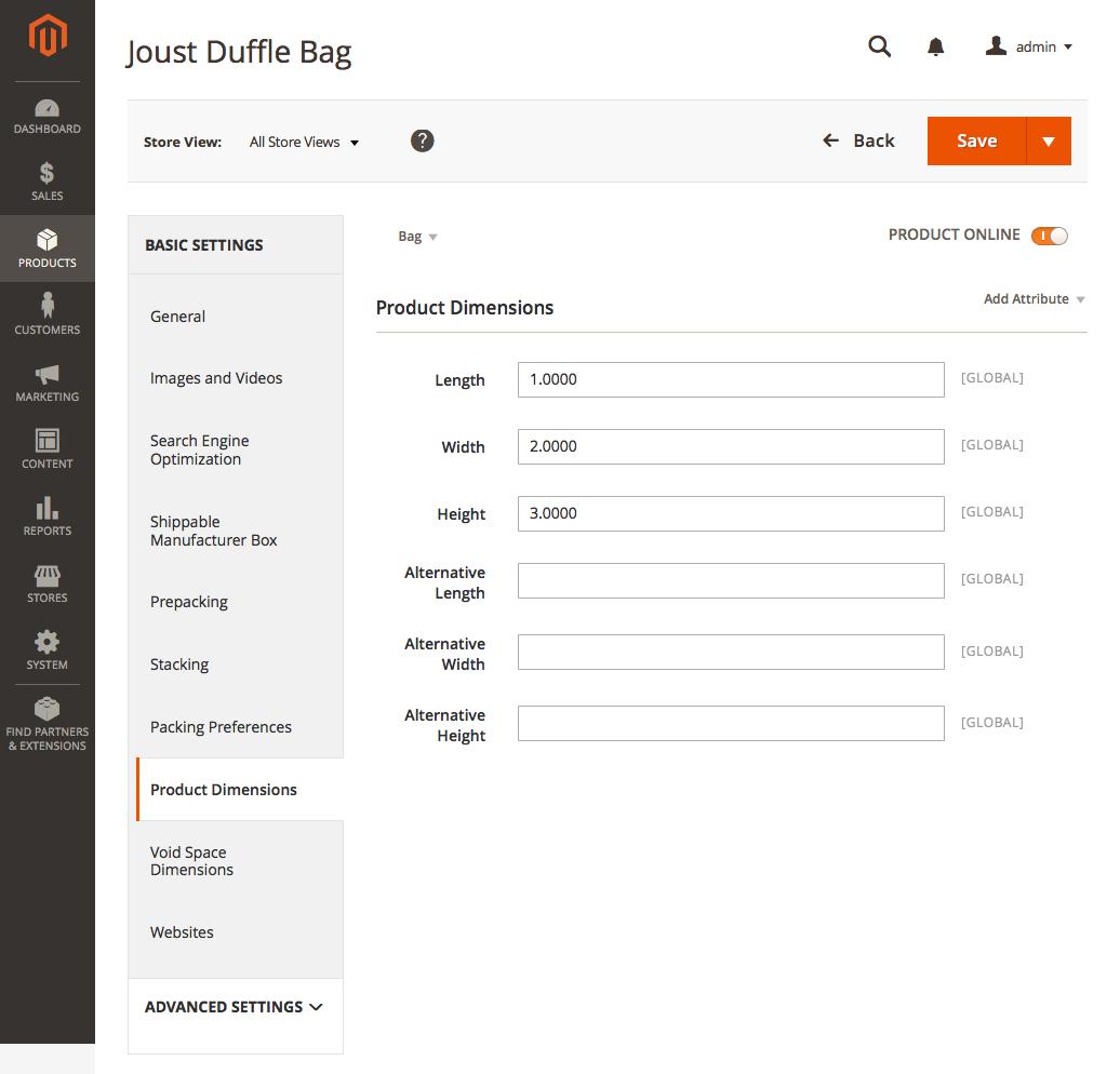 Netsuite Inventory Item Dimensions Configuration
