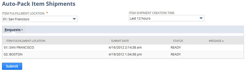 NetSuite pack item shipments automatically