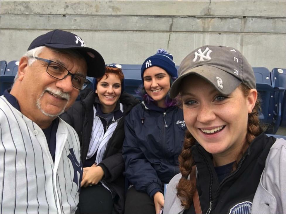The Corteses at Yankee Stadium