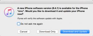 new iOS version 8.4.1