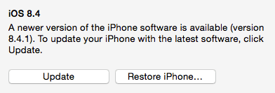 new iOS version restore
