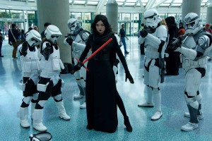 Wondercon 2016 - Stormtroopers and Lady Kylo Ren