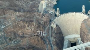 flying over the hoover dam
