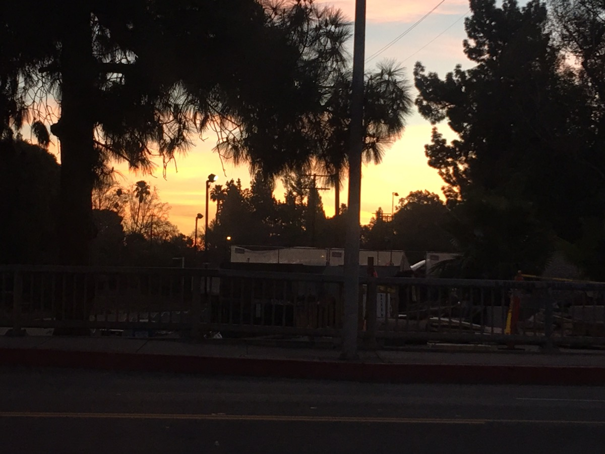 Sunrise by the banks of the LA River