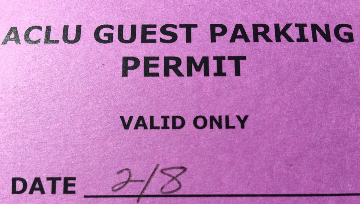 ACLU parking pass