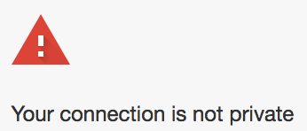 Chrome-your connection is not private
