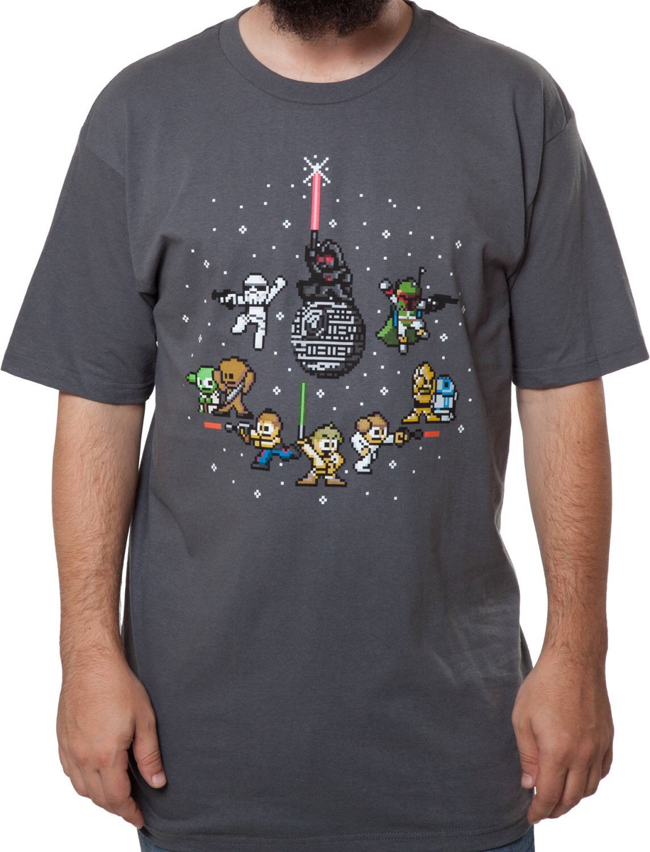 8 bit star wars shirt