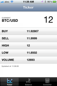 Bitcoin Price screenshot