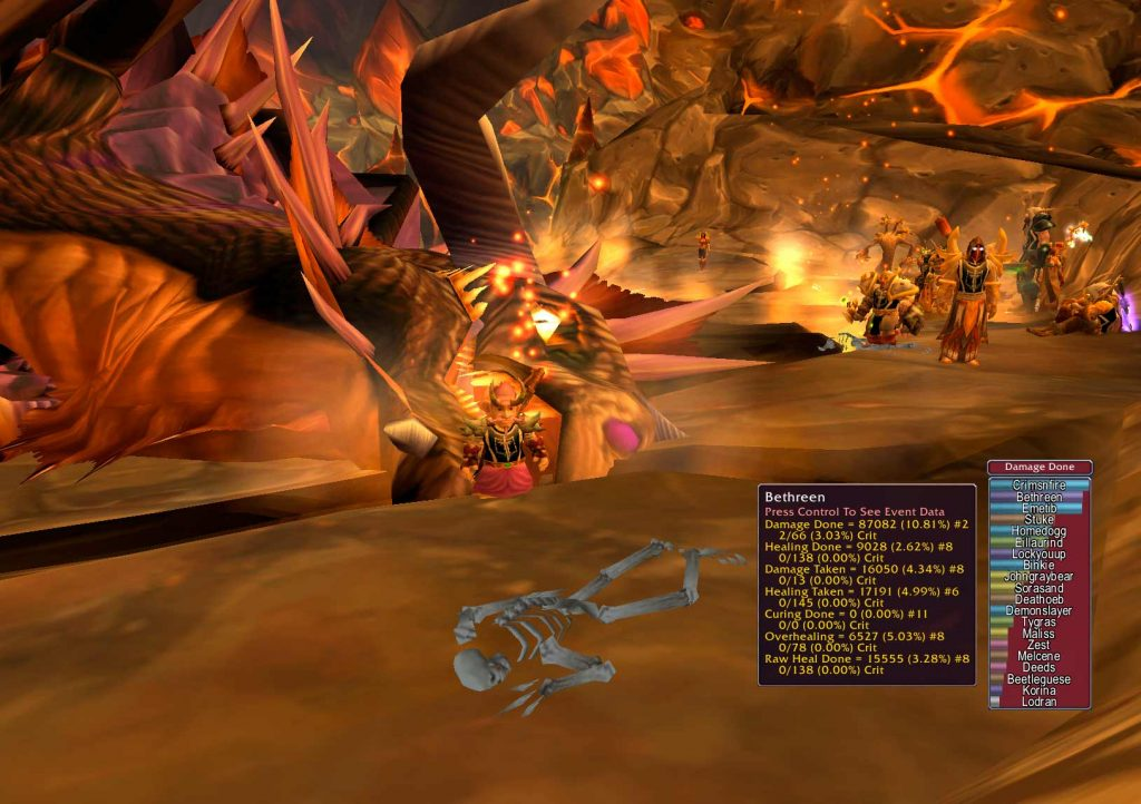 WOW: Onyxia Slain with Stats