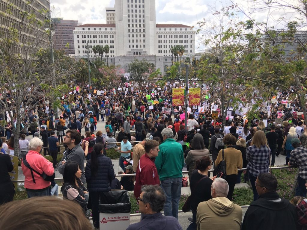 Crowds at City Hall March 24th