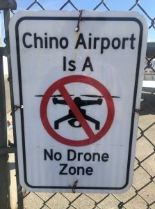 Chino Airport - No Drone Zone