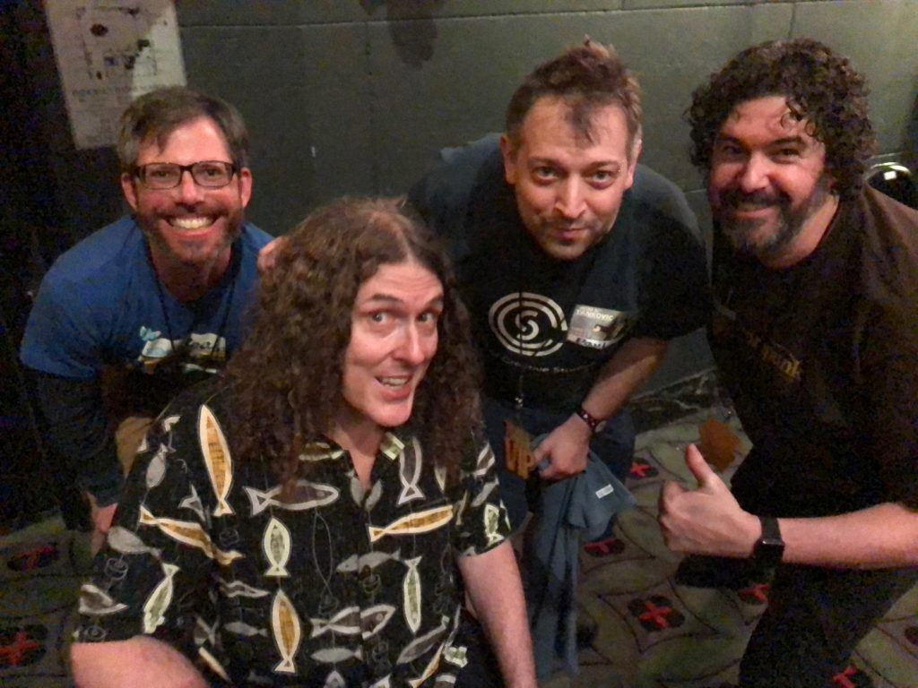be3n and Paul Jacobs and Aaron with Weird Al