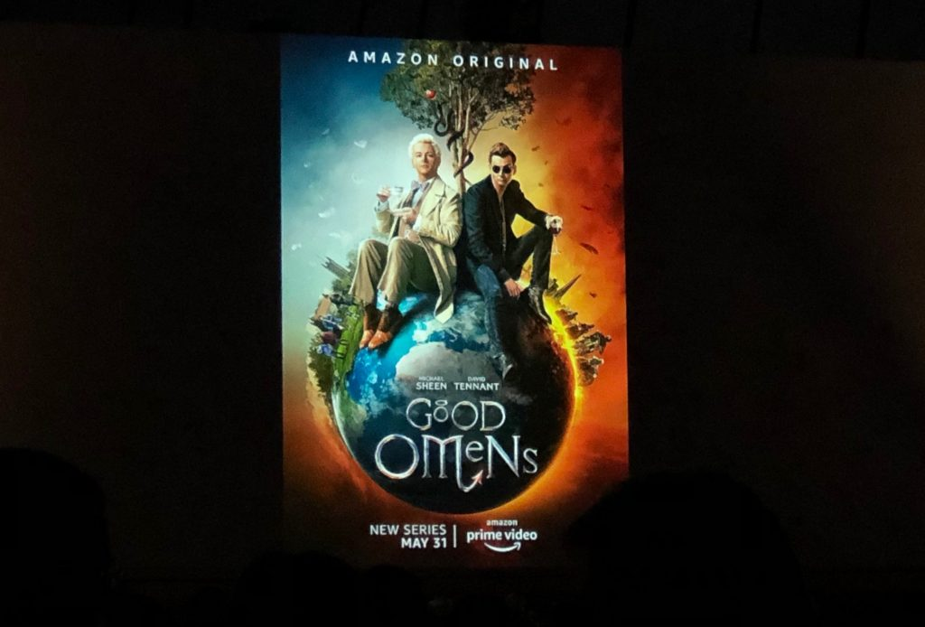 Good Omens Poster Projection