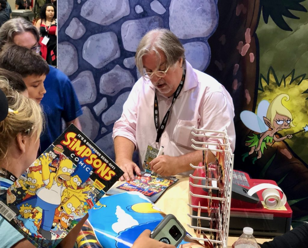 Matt Groening signing at 2019 Comic Con