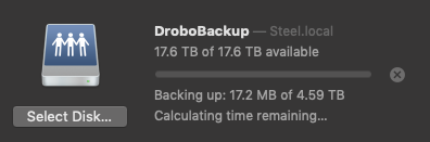 Backup Begins Again