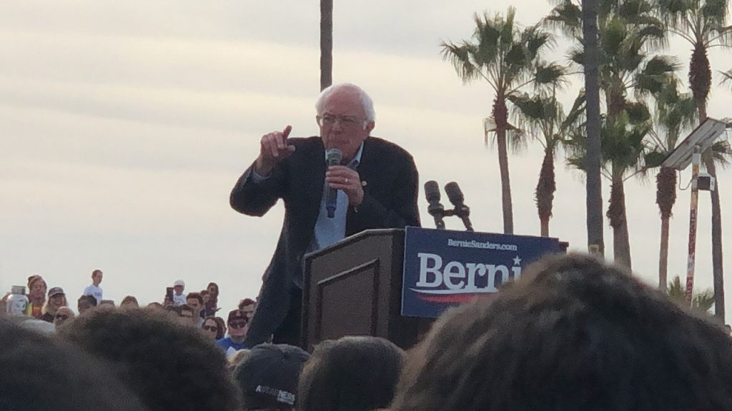 Bernie speaks at presidential rally