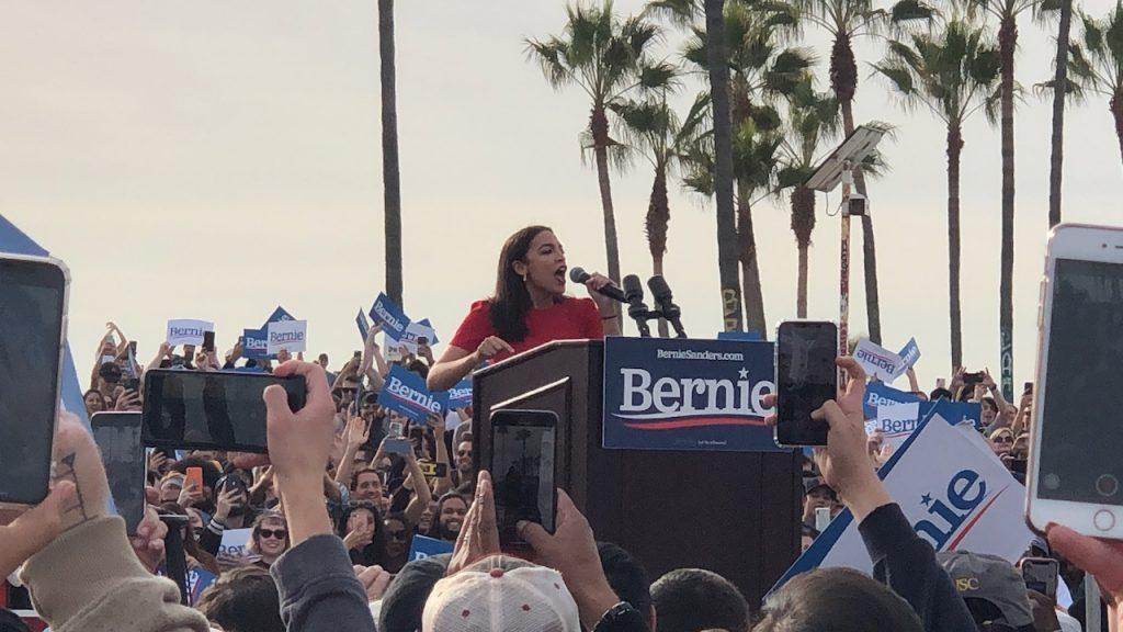AOC at Bernie rally