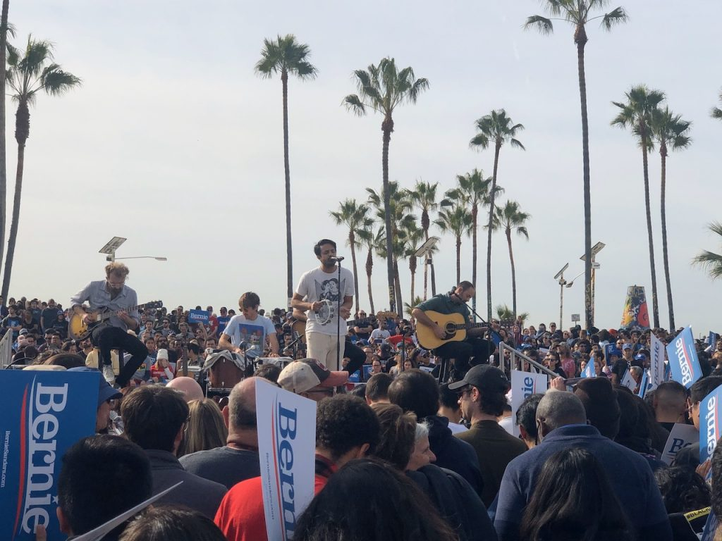 Young Giants perform at Bernie rally in Venice