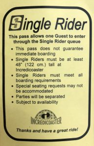 Disneyland Adventure - Single Rider