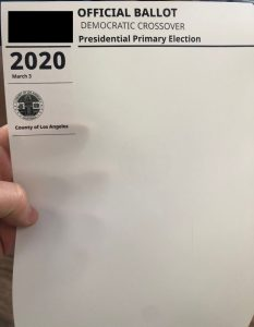 super tuesday - paper ballot