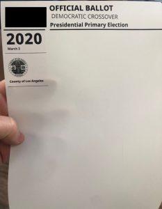 super tuesday - paper ballot