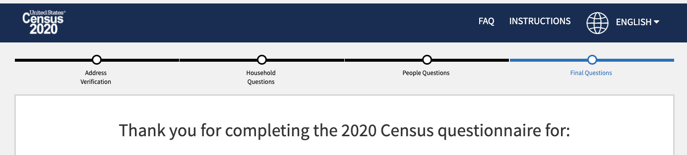 2020 Census Complete
