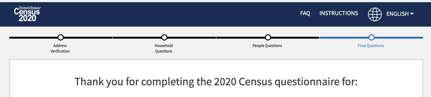 2020 Census Complete