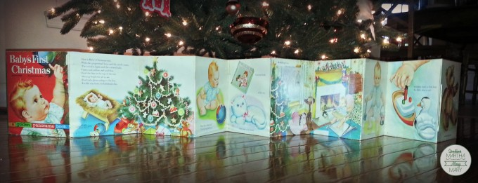 Baby's first Christmas book unfolded
