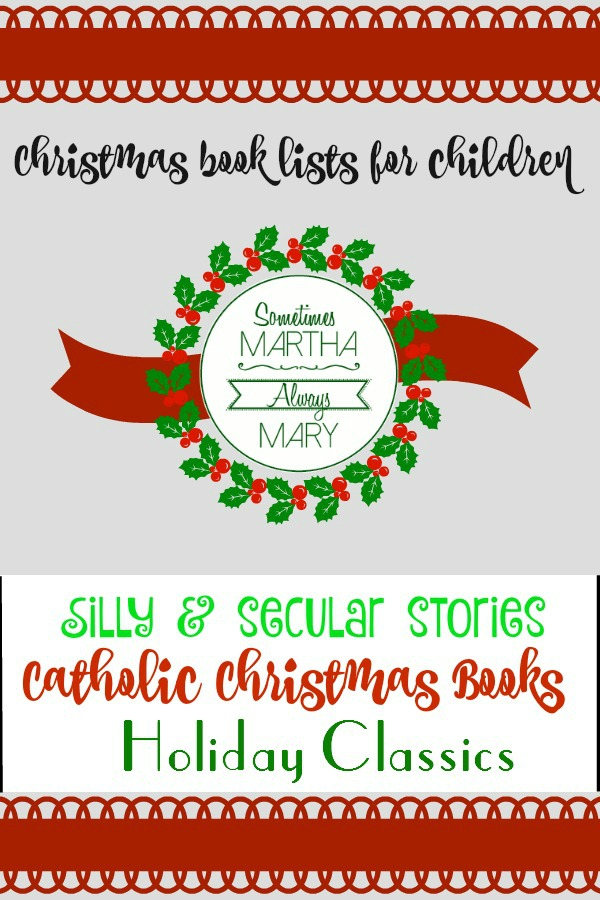 Christmas Book Lists for Children SMAM Pinterest Graphic