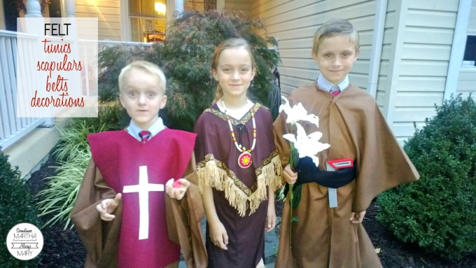 Felt All Saints Day Costumes SMAM