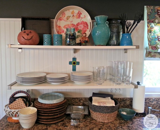 HALLOWEEN kitchen shelves SMAM