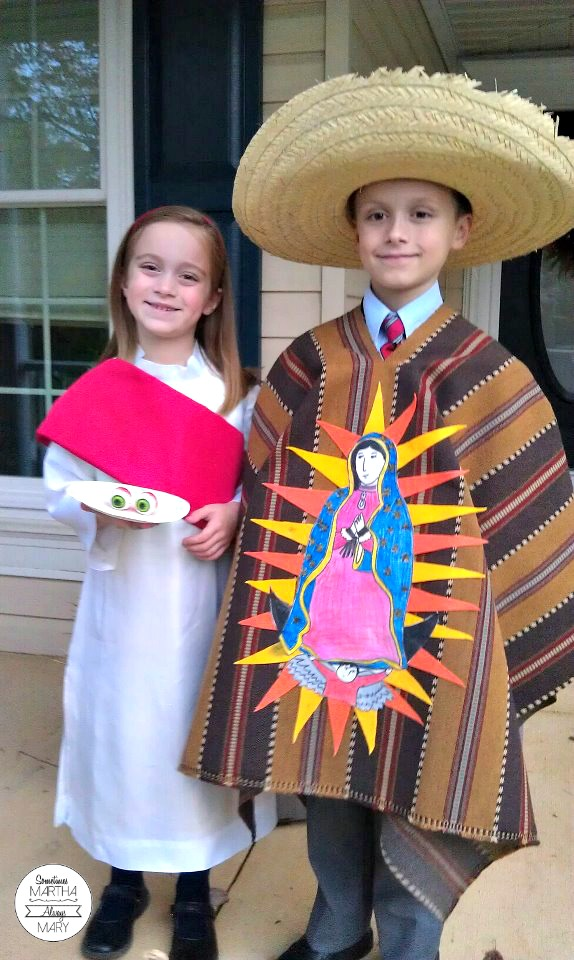 Juan Diego and St. Lucy ALL SAINTS DAY COSTUMES SMAM