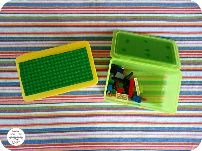 Lego boxes for travel