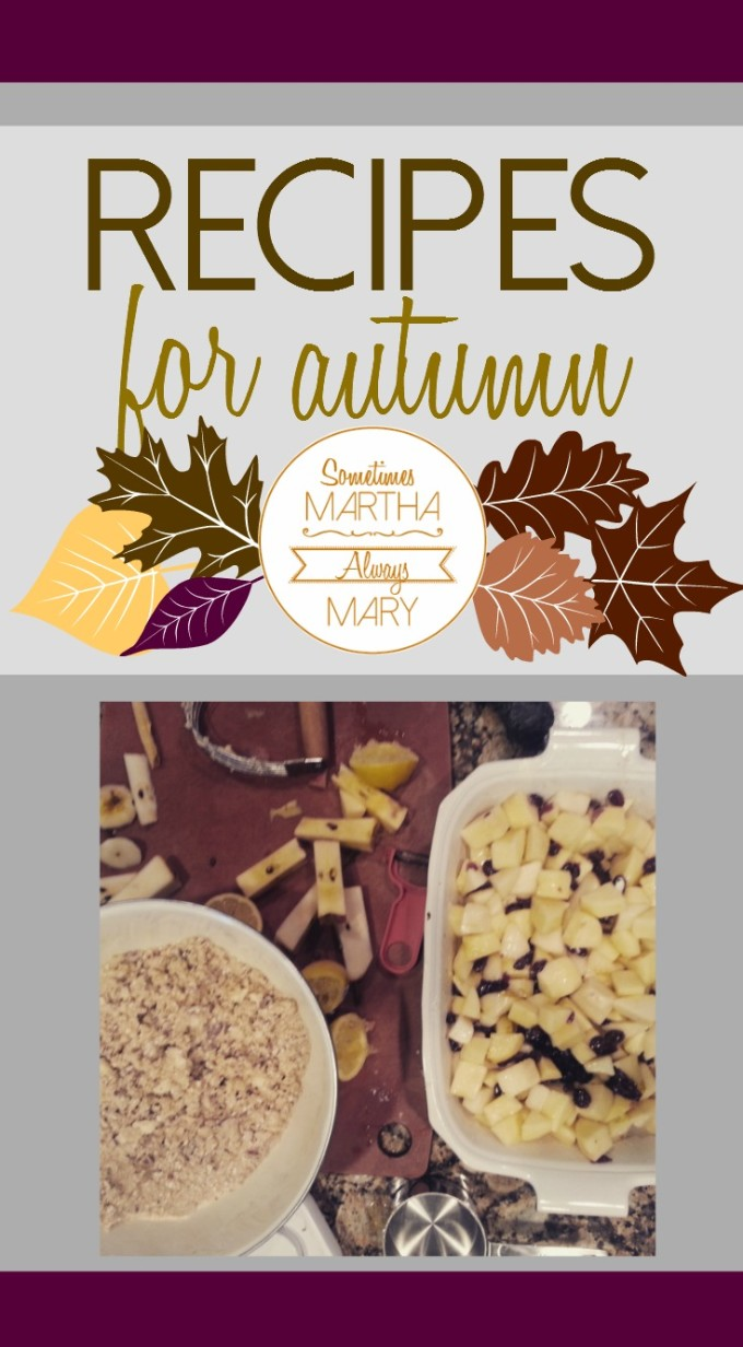 Pinterest graphic recipes for autumn