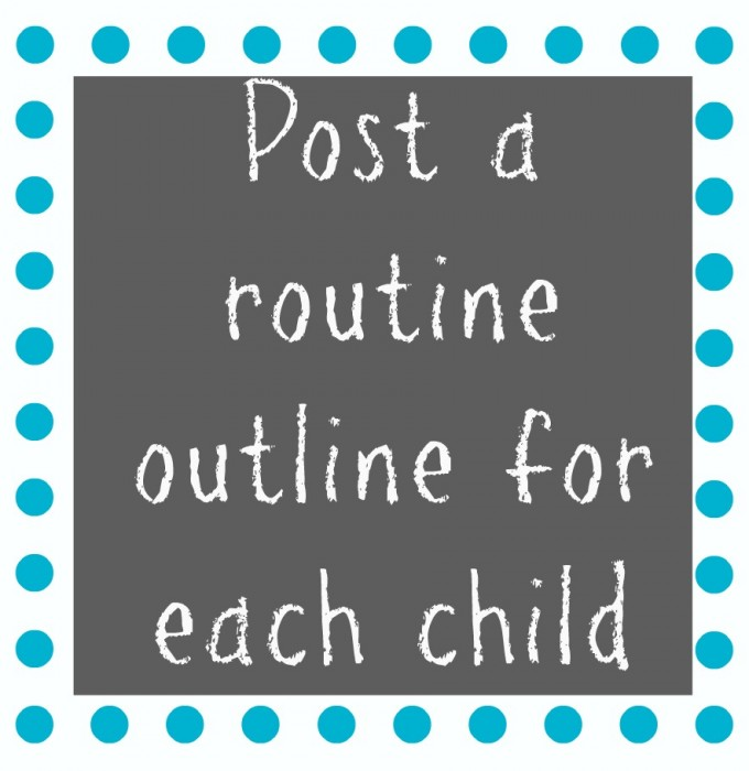 Post a routine outline