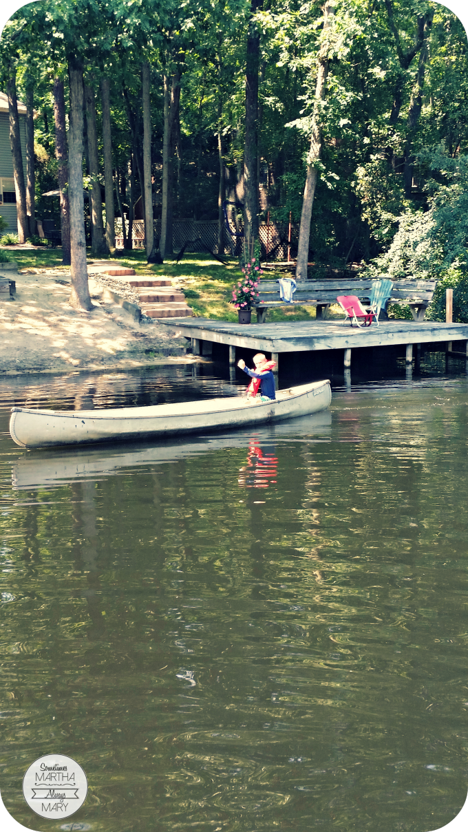 Smarty Pants canoeing alone