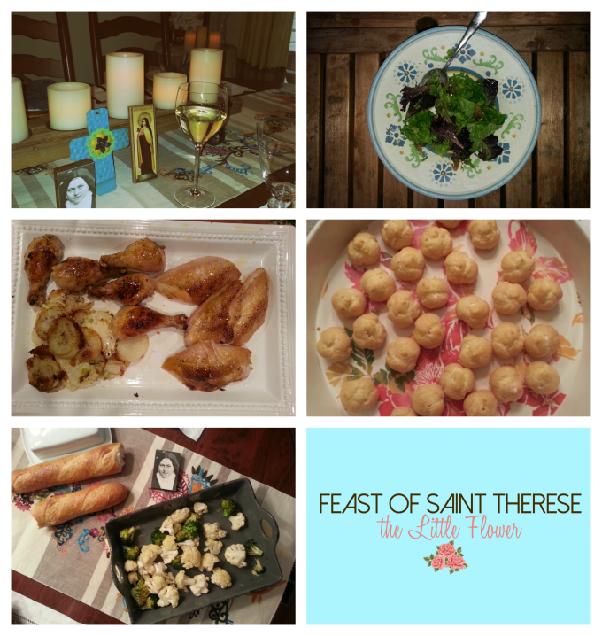St. Therese Feast Day Dinner collage SMAM