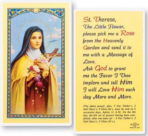 St. Therese pick me a rose