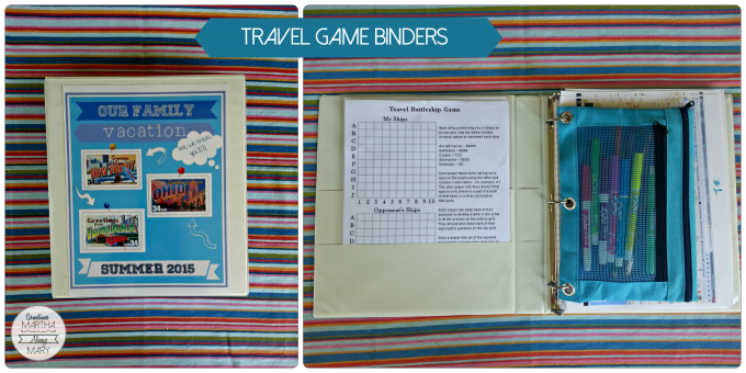 Travel Game Binders