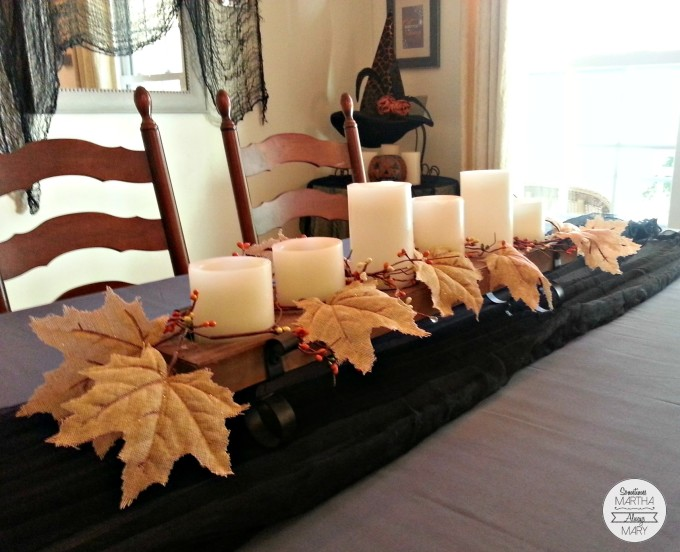 dining room fall centerpiece SMAM