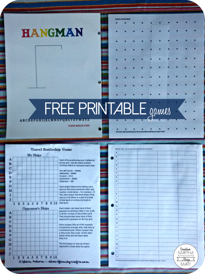 free printable games RT