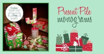 present pile monogram FB graphic SMAM