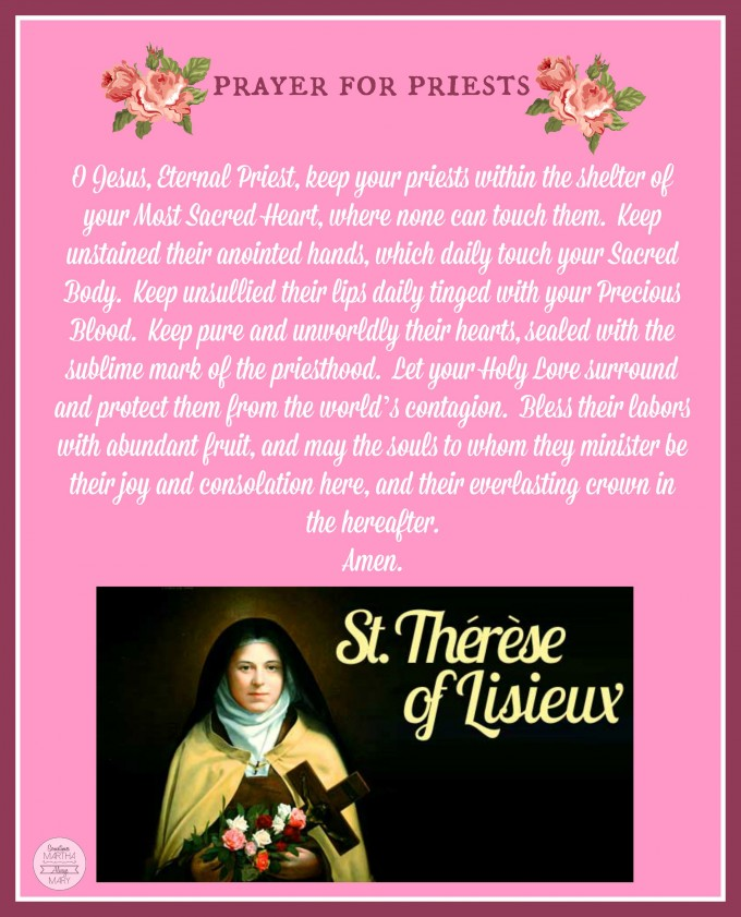 st. t prayer for priests SMAM