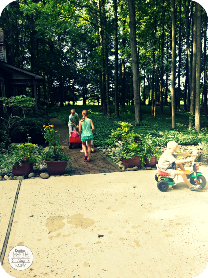 wagon Grandmom & Grandad's woods