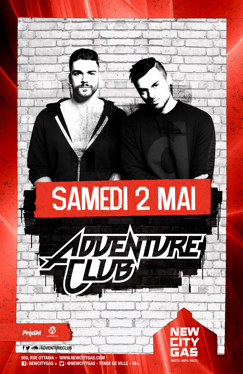 Adventure Club au New City Gas | Samedi 2 Mai