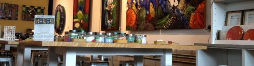 Atelier d'émail sur cuivre à la galerie Bernard Séguin Poirier