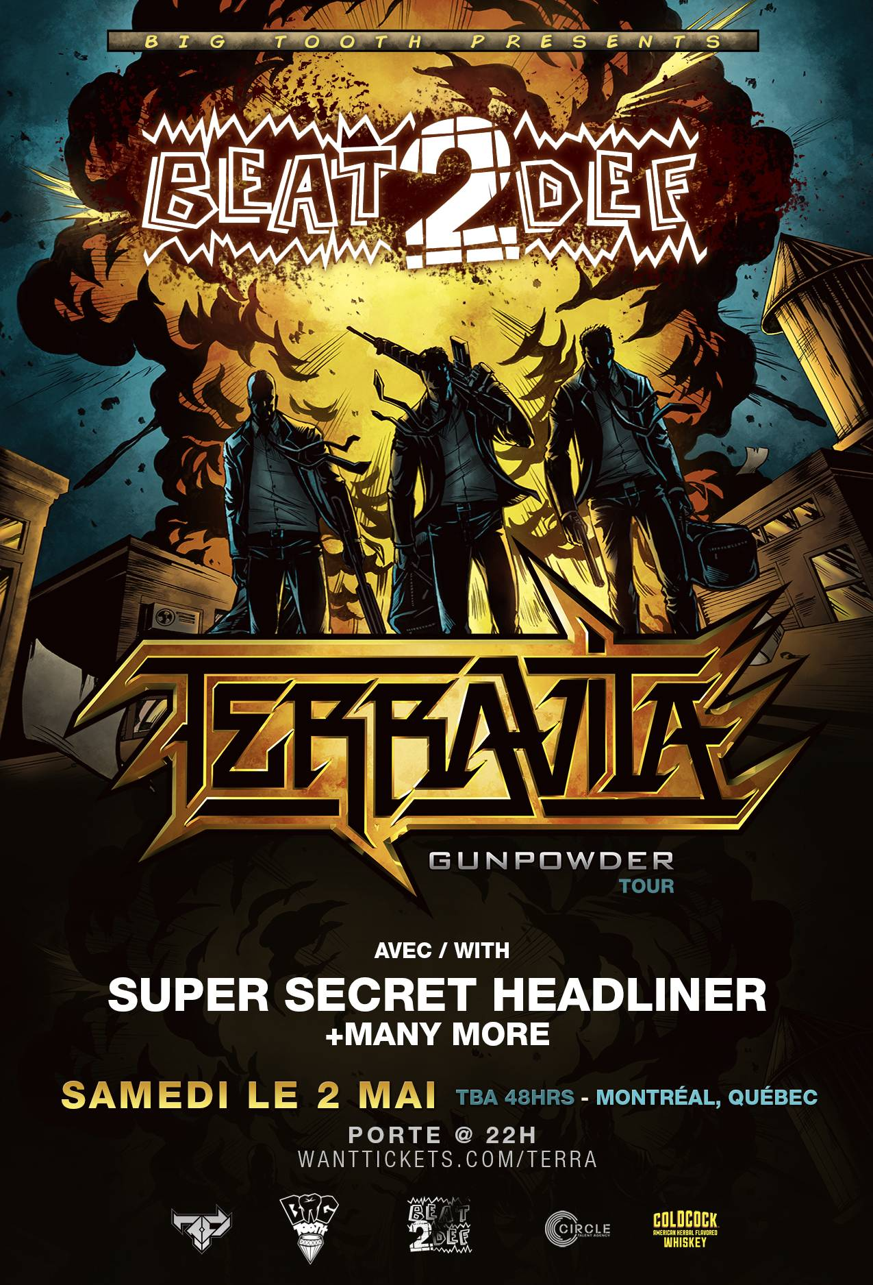 BEAT2DEF w/ TERRAVITA [US] + SECRET HEADLINER + MORE