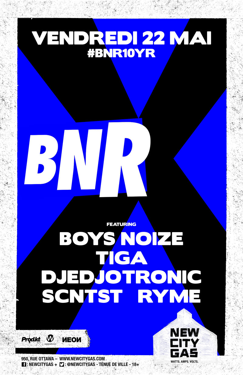 Boys Noize + Tiga au New City Gas | Vendredi 22 Mai