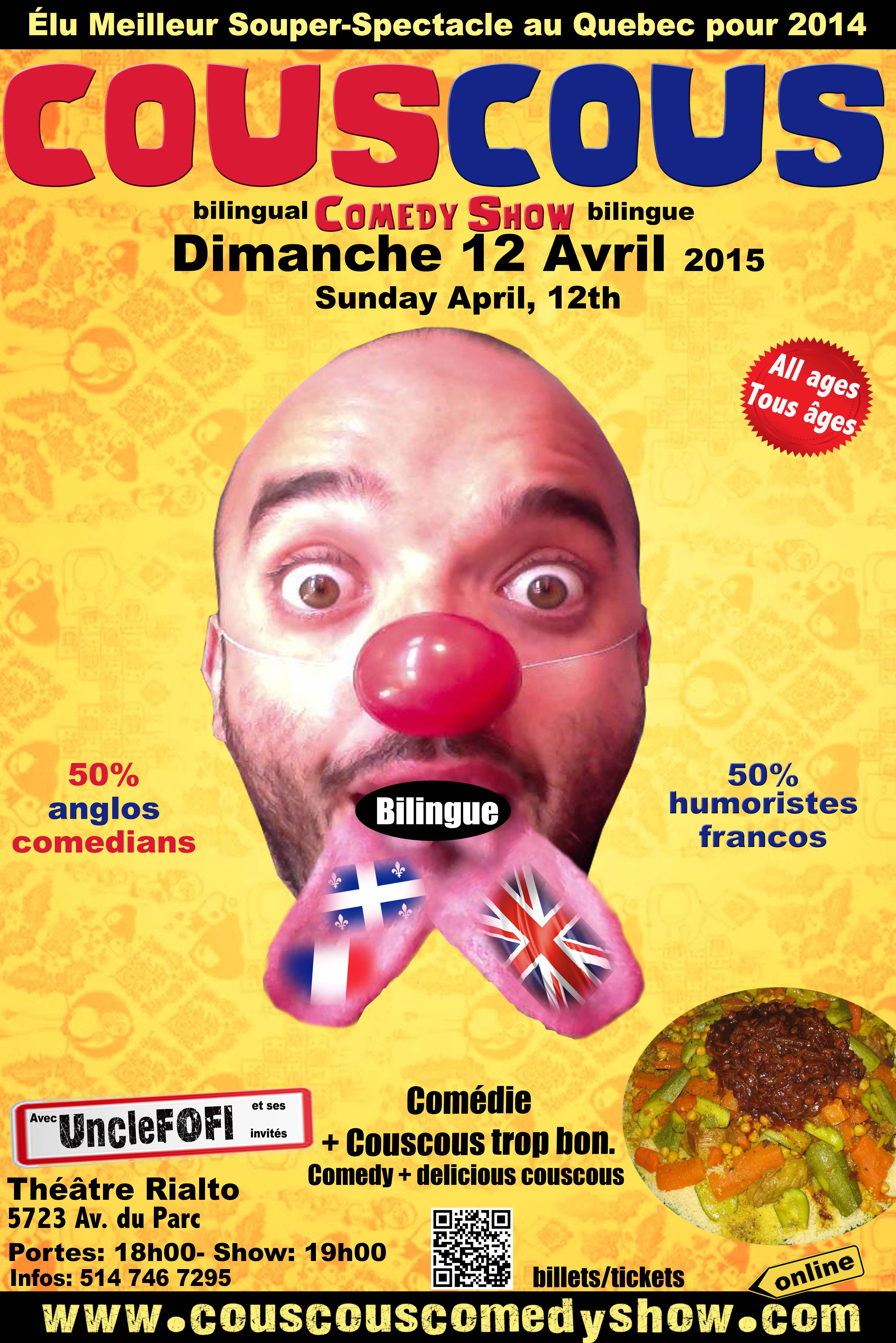 Couscous Comedy BILINGUE Show